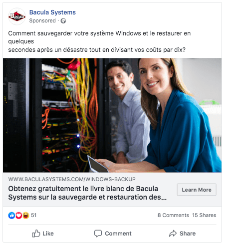facebook localized ads for b2b marketing