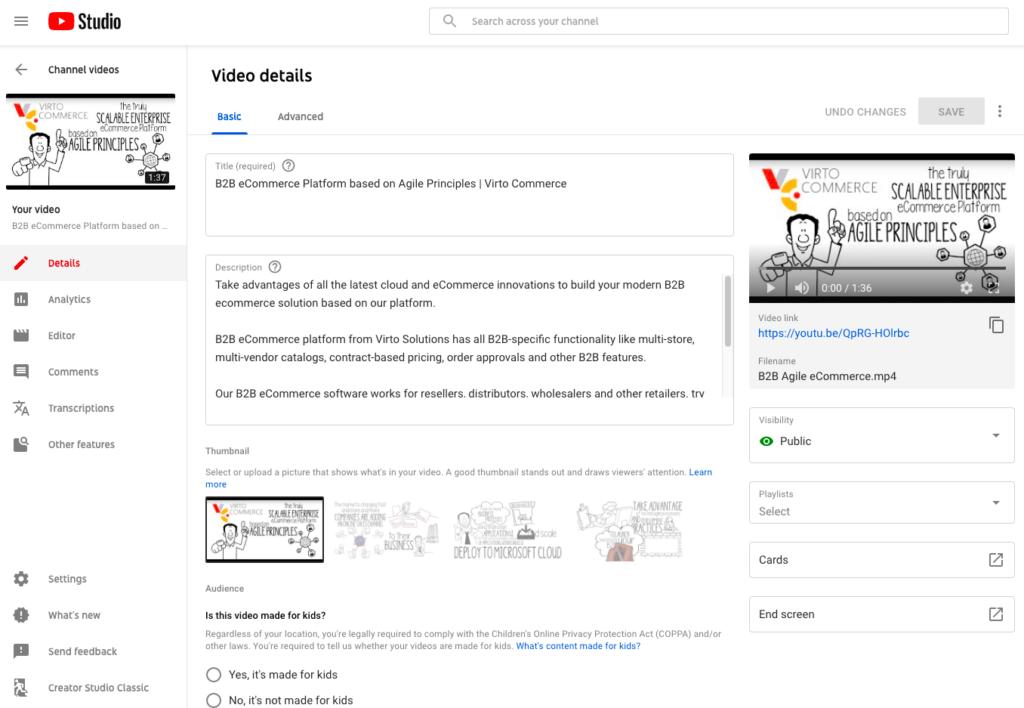 YouTube video optimization process